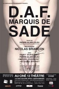D.A.F. Marquis de Sade - Ciné 13 Théâtre - E dans Les sorties d'Edouard sade-200x300